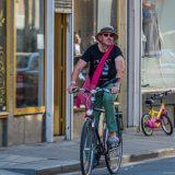 Kleurrijke fietser
